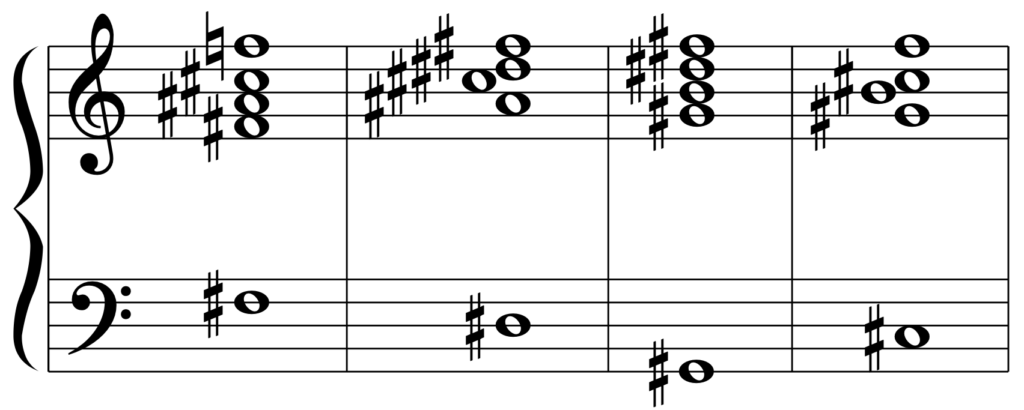 F#M7(G♭M7)のカデンツ