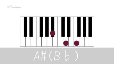 コード【B♭】をピアノで弾く。基本フォーム3種と用途を解説