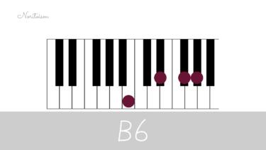 コード【B6】をピアノで弾く。7コードとの関係も解説