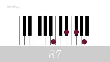 コード【B7】をピアノで弾く。基本3種・応用で代理コード展開