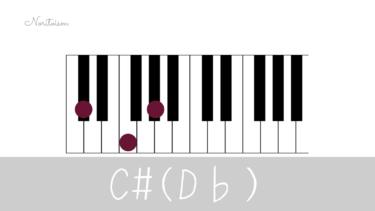コード【C#(D♭)】をピアノで弾く。基本フォーム3種と用途を解説
