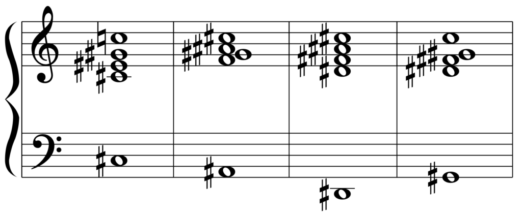 C#M7(D♭M7)のカデンツ