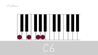 コード【6】(シックス)をピアノで弾く。C6を元に7コードとの関係も解説