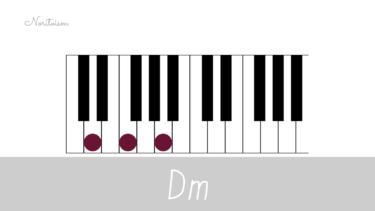 コード【Dm】をピアノで弾く。基本フォーム3種と用途を解説