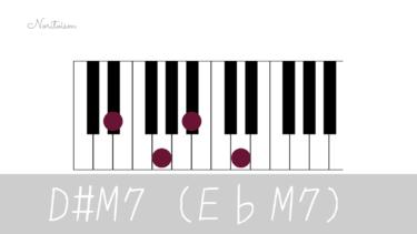 コード【E♭M7】をピアノで弾く。7コードとの違いを耳で実感