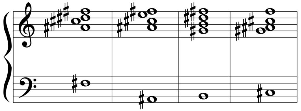 F#6(G♭6)のカデンツ
