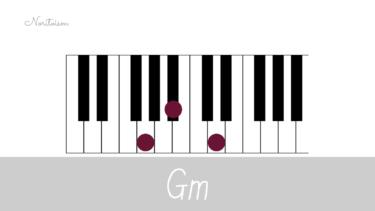 コード【Gm】をピアノで弾く。基本フォーム3種と用途を解説