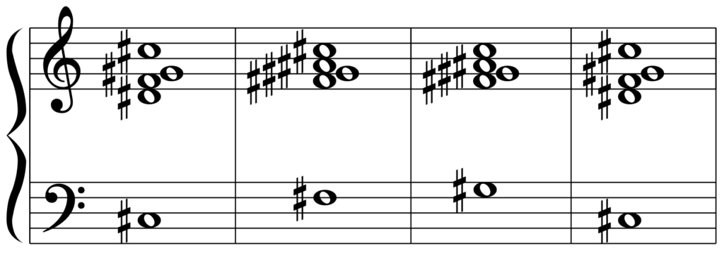 C#add9(D♭add9)のカデンツ