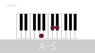 コード【A-5】をピアノで弾く。マイナーコード時の活用も紹介