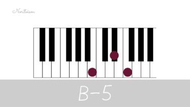 コード【B-5】をピアノで弾く。マイナーコード時の活用も紹介