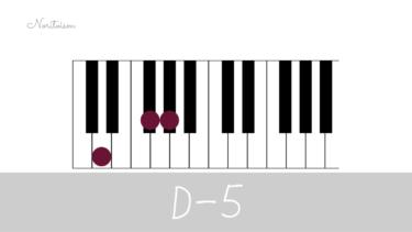 コード【D-5】をピアノで弾く。マイナーコード時の活用も紹介