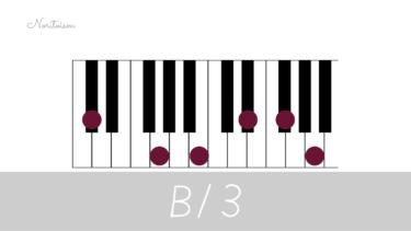 テンションコード【B13】をピアノで弾く。手の形を覚えて応用しよう