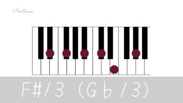 テンションコード【F#13(G♭13)】をピアノで弾く。手の形を覚えて応用しよう